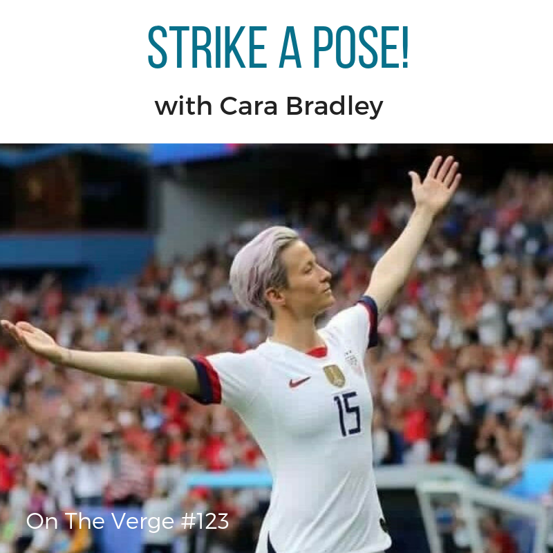 Megan Rapinoe goal scoring stance as seen in The Daily Dot